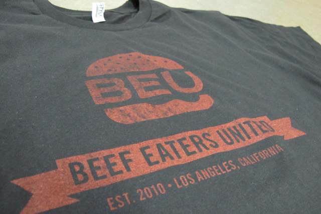 Beu beef eaters united vintage tees for Where can i screen print t shirts